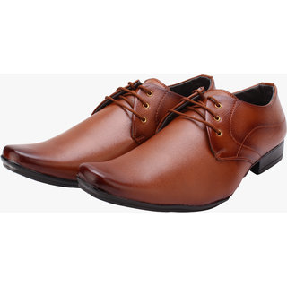 Smoky Tan Party Wear Formal SHoes For Mens