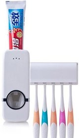BANQLYN Automatic Toothpaste Dispenser With Brush Holder