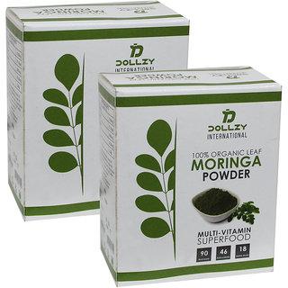 Dollzy Organic Moringa Powder - 80g (Set of 2)