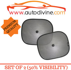 Premium Quality Vaccum Cup Sticky Car Sun Shade with 50 Visibity for Audi Q 3 (Set of 2 Sun Shade  2  Suction Cup )