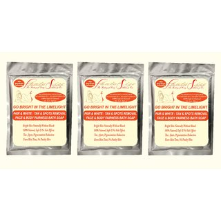 Suntan Removal, Dark Spots, Blemish, Patchy Skin reduction, Skin Brightening Face  Body Fairness Soap Pack of 3