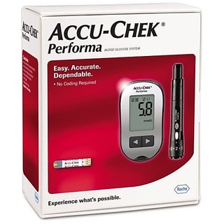 Accu-Chek Performa Blood Glucometer with 10 Test Strips