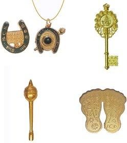 Combo Pack of Shani Locket  Yantra, Kuber Kunji, Laxmi Charan Paduka  Hanuman Gada