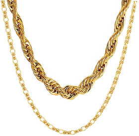 Gold Plated High Quality Chain Combo by Sparkling Jewellery