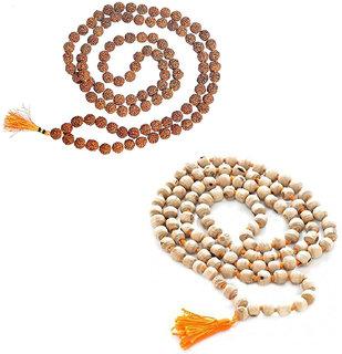 Combo Pack of Rudraksha Mala Tulsi Mala by Beadworks