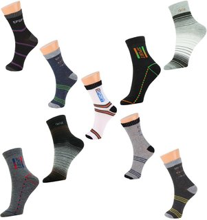 Home Fantasy  Multicolor Pack Of 9 Pair Ankle Socks Assorted Colors