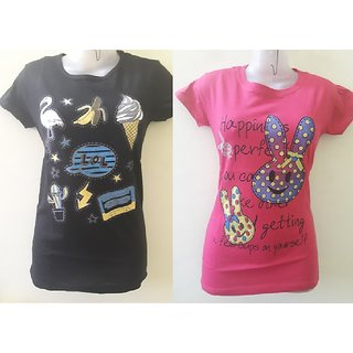 Girls 2pc T-Shirt(Fits Upto Bust Size 32)
