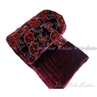 shoppingtara Famous Jaipuri Valvet Double Bed Quilt Razai Rajasthani Quilt Blanket Gift Quilts Winter Gift