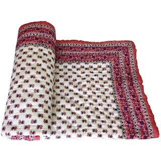 shoppingtara Silkworm Beautiful Jaipuri Printed Single Quilt/Razai