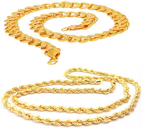 Sparkling Brass Lotus Design Brass and Rope Design Alloy Chain for Men