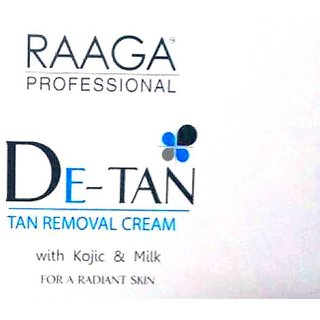 Raaga Professional De-Tan Removal Cream Sachet (Pack of 1) 72g