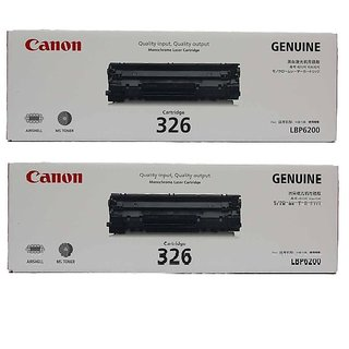 Canon 326 Black Toner Cartridge 2 pack For use Canon Laser Shot LBP6200D
