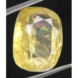 Yellow Sapphire ( PUKHRAJ )  8.25 ratti Natural  Certified Stone Jaipur Gemstone