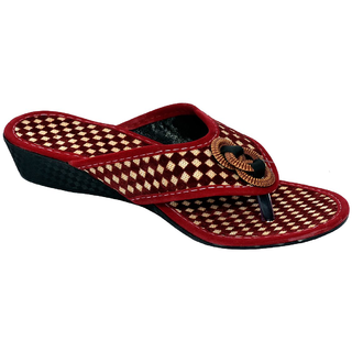 ae43a2cee62b Buy PM Traders Women s Fashion Rajasthani Red Chappal Online - Get 50% Off