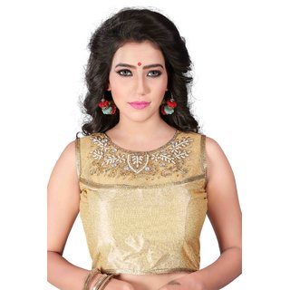 e5b657473a9ad1 Buy Greenvilla Designs Gold Silk Readymade with Pad Blouse Online - Get 65%  Off
