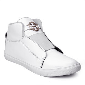 Brooke Men's White Stylish Casual Boot Shoes