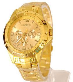I DIVA'S Rosra Watches For Men- Golden Watch By HansHou