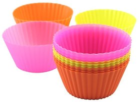 Right Traders 6 pcs Silicon cup cake molds