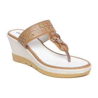 Vendoz Women Casual Beige Wedges