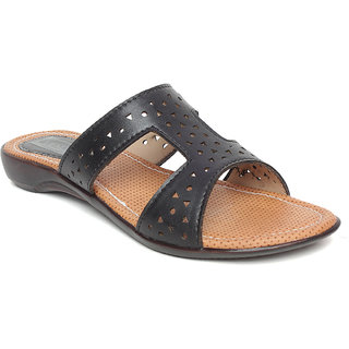 Vendoz Women Casual Black Sandals