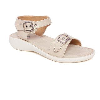 Vendoz Women Casual Cream Sandals