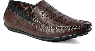 Shoeson Men's Brown Synthetic Loafer