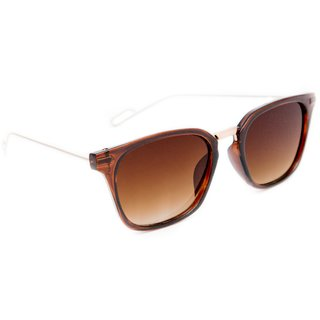 ced83b3e5d1 TheWhoop UV Protected Brown Golden Wayfarer Unisex Sunglasses Stylish  Wayfarers Goggles For Men Women Girls Boys