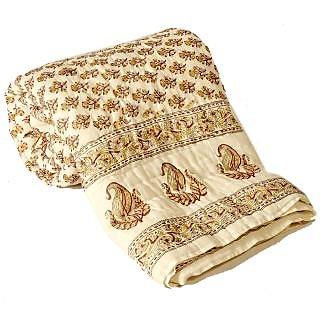 shoppingtara Jaipuri Ethnic Print Cotton Single Bed Quilt