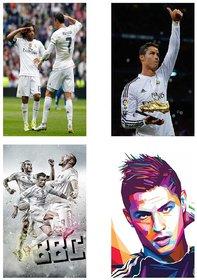 Cristiano Ronaldo Combo Poster Set of Four Posters | Ronaldo poster | Cristiano Ronaldo poster for room