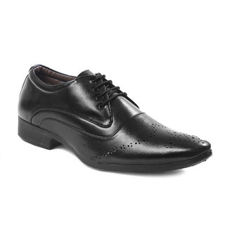 Shoeson Men's Black Synthetic Formal Shoes