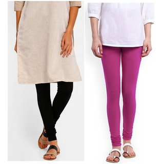 0c6555aa8 Buy Leggings -Premium Quality Cotton Leggings - Comfort guarantee ( Size -  Hp in Inch for ( XXL 44 - 47) black and magenta Online - Get 40% Off