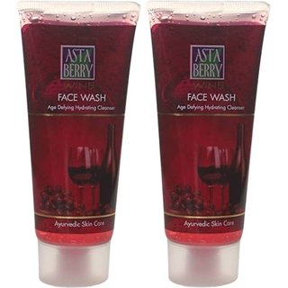 Astaberry WINE face wash 100ml (pack of 2)