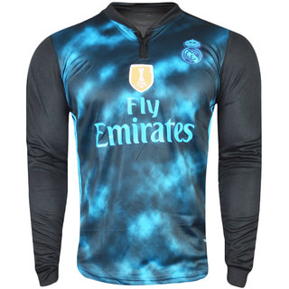 newest 4795f 85c34 Real Madrid Multi-Black Color Dry Fit Long Sleeve Jersey