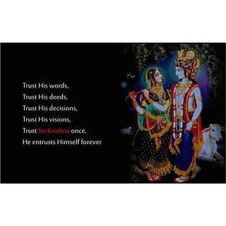 Lord Shri Radhe Krishna Poster for Room