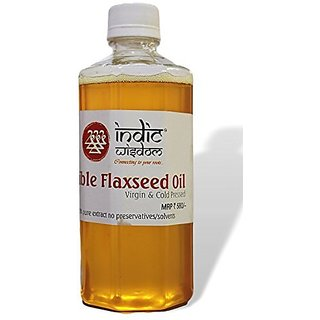 IndicWisdom Cold Pressed Flaxseed Oil 500ml