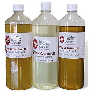Combo OilBlack Sesame Oil Groundnut Oil Coconut Oil