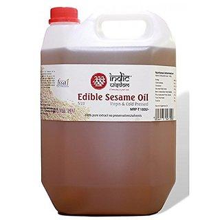 IndicWisdom Cold Pressed White Sesame Oil 5ltr