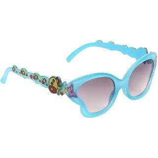 Zyaden Girls Black Full Rim UV Protection Cat-eye Sunglasses