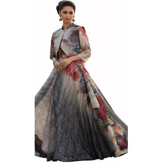Meia Multicolor Printed Art Silk Stitched Kurti