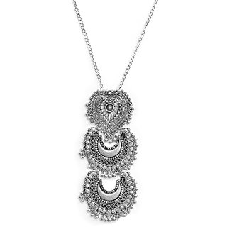 Oxidised Silver Plated Designer Necklace by Sparkling Jewellery