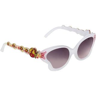 eb898ef6fc6ff 35%off Zyaden Girls Black Full Rim UV Protection Cat-eye Sunglasses