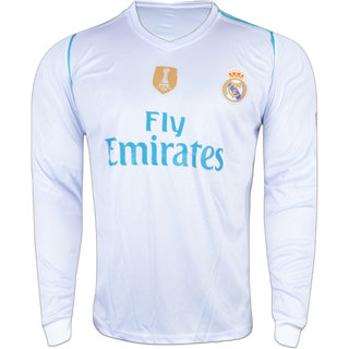 super popular abe4f 69cb4 Real Madrid White Color Dry Fit Long Sleeve Jersey
