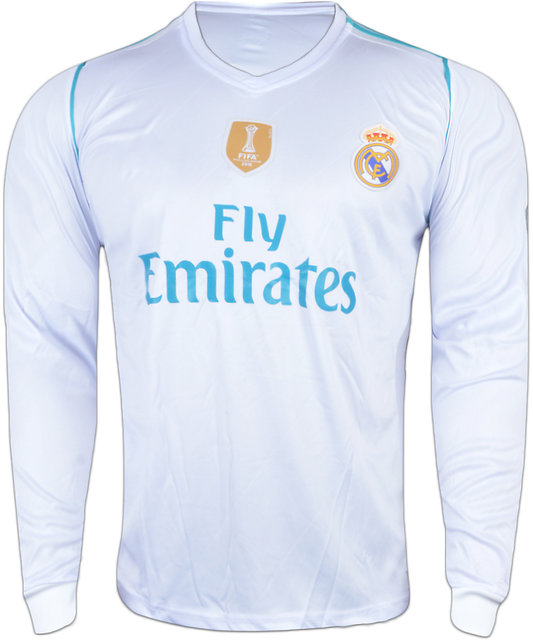 super popular d72d5 22df2 Real Madrid White Color Dry Fit Long Sleeve Jersey