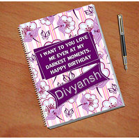 Notebook For Happy Birthday Gift