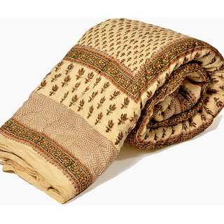 shoppingtara Jaipuri Block Print Cotton Double Bed Quilt