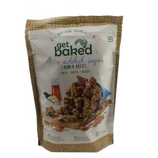 Get Baked Crunch Rocks No Added Sugar Oat Granola  Snack Bars Almonds, Walnuts, Pumpkin, Sunflower,  Chia Seeds - 50gm