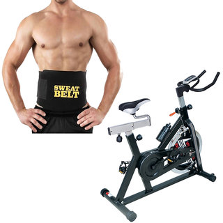 Lifeline Fitness Combo For Weight Loss Spin Bike And Sweat Belt
