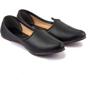 Vonc Handmade Black Juties for Men