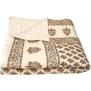 shoppingtara Jaipuri Single Bed Pure Cotton Quilt Rajai RAZAI  SRM 2003