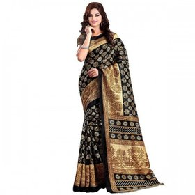 BLACK QUEEN (ART SILK)NEW -INDIAN-DESIGNER-PARTY-WEAR-Peria AppareL TRY ONE TIME